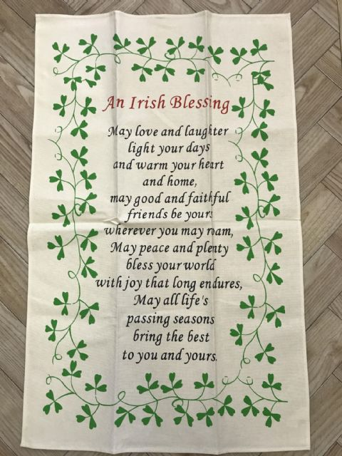 Liffey Artefacts Irish Tea Towel - An Irish Blessing
